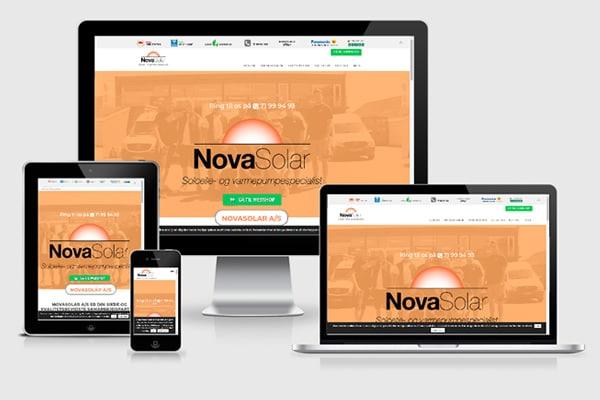 Wordpress som Landingpage for NovaSolar