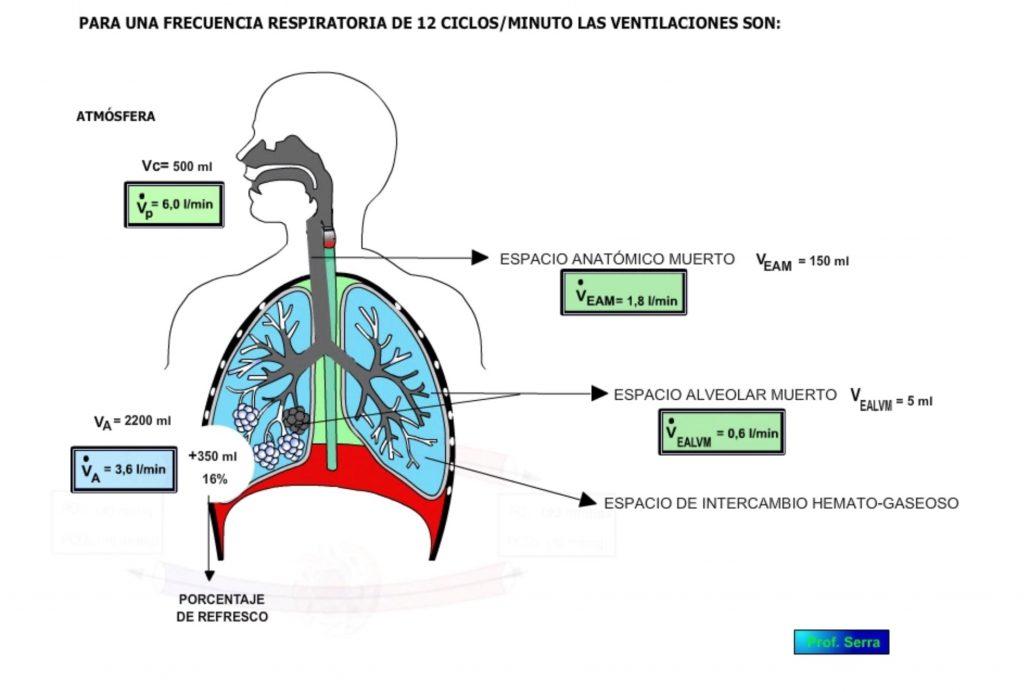 valores de las ventilaciones