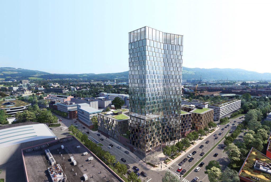 QUADRILL Tabakfabrik Linz Bodner-Gruppe - Das neue Leuchtturmprojekt in der oberösterreichischen Landeshauptstadt mit dem 109 Meter hohen Quadrill-Tower.