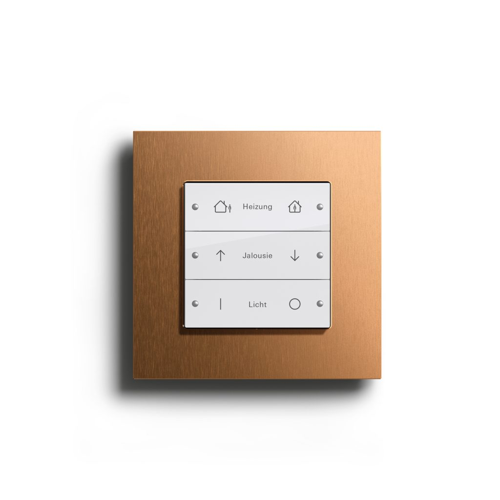 Gira Esprit Bronze (PVD) Tastsensor 3 Bronze-Reinweiß glänzend
