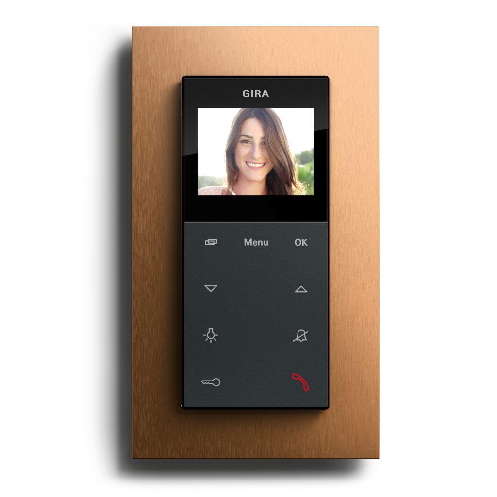 Gira Esprit Bronze (PVD) Wohnungsstation Video AP plus Bronze-Anthrazit