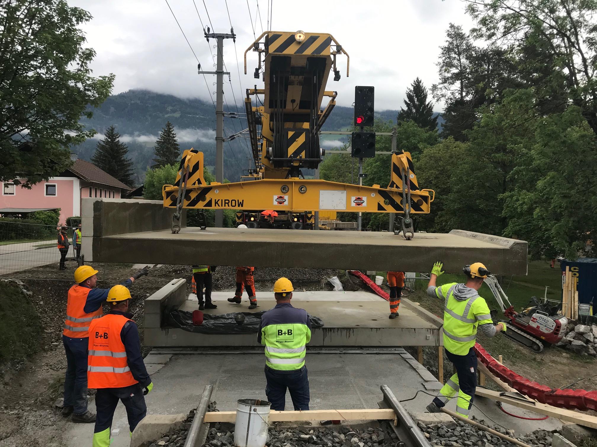 Sanierung ÖBB-Bahnstrecke Lienz-Innichen