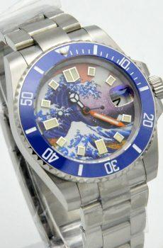 the great wave watch mod wellingtime uk watch mods