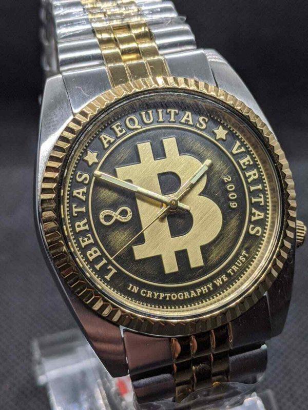 automatic bitcoin watch Seiko Mod