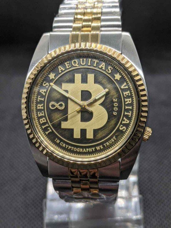 seiko DateJust mod Automatic bitcoin Watch