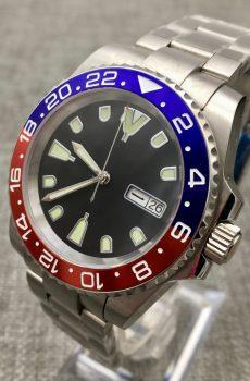 custom modifired pepsi sub - Super Bright Lume - Wellingtime uk Watch Mods / seiko Mods