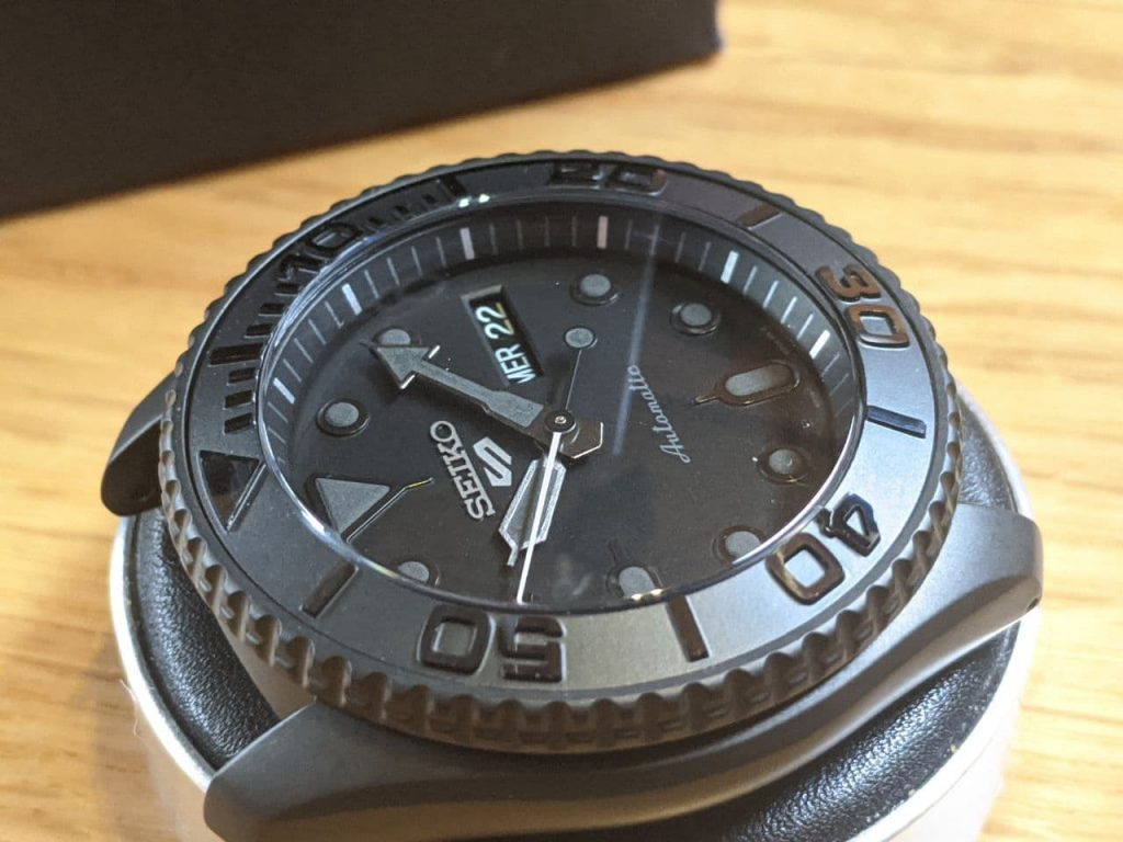 Seiko SRPD79 Mod - With Black Yachtmaster Bezel insert Double dome sapphire crystal AR coated. modified in the UK by Wellingtime in Cornwall.