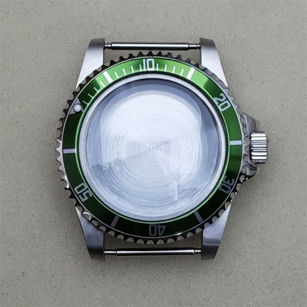 submariner diver case vintage style nh36 green insert