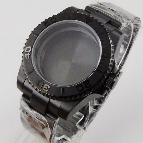 Black submariner style case and bracelet set - suitable for NH36 movement Seiko mods