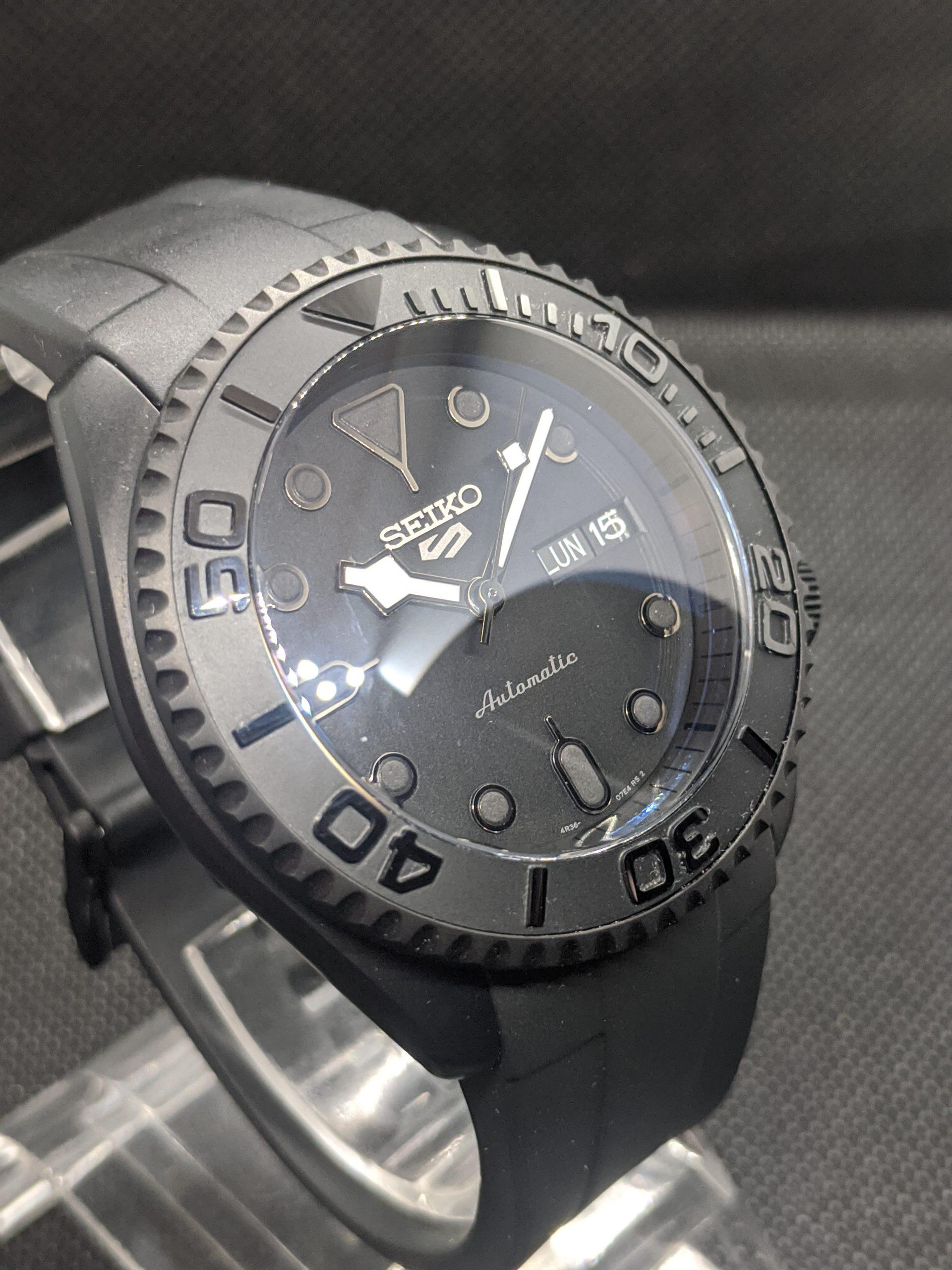 Black Seiko Dive watch