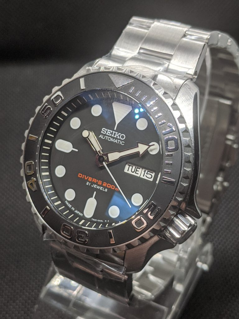 Seiko SRPDSKX007J - Big Grip YM: DD sapphire crystal & big grip bezel, Yacht Master style insert polished numerals,  Monster crown, Upgraded oyster bracelet.