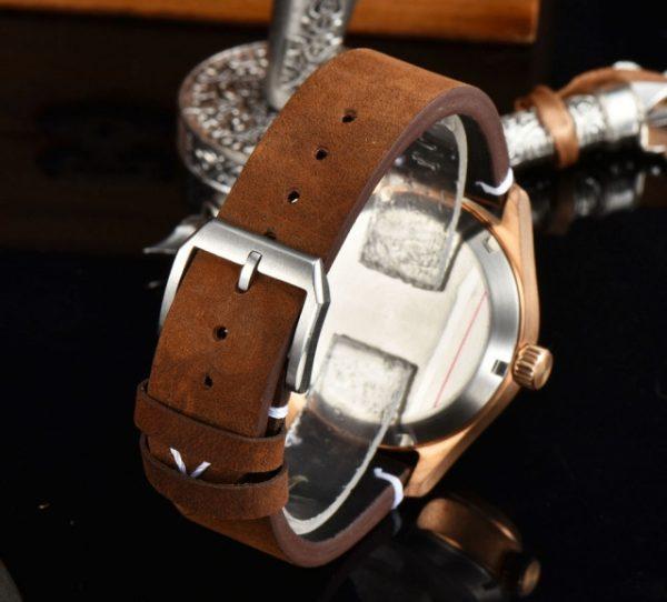 Bronze Pilot Watch swede strap