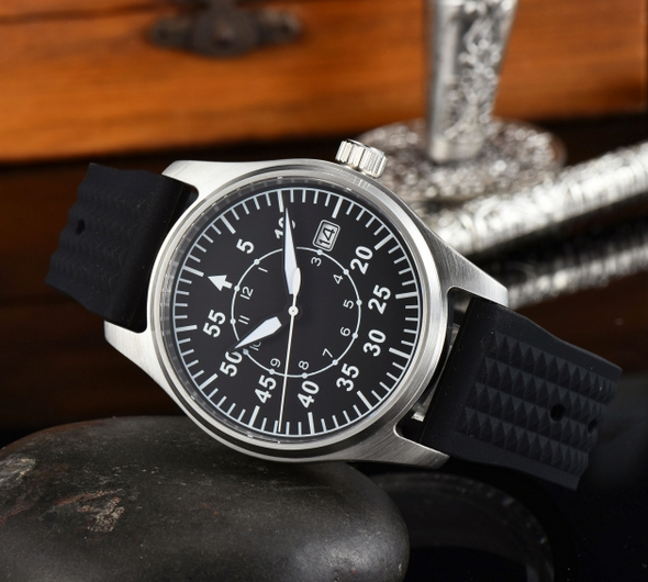 Black Pilot watch NH35 39mm