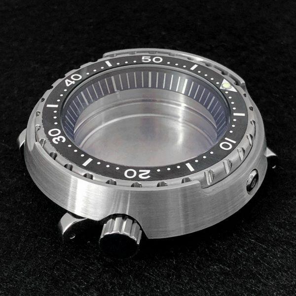 tuna can case - watch case - rotating bezel black insert