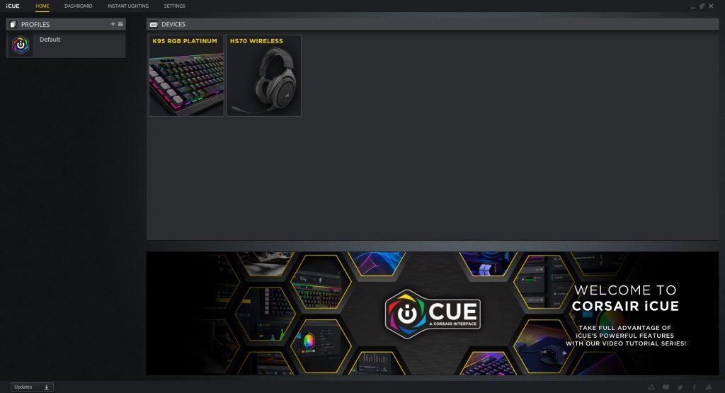 Corsair's iCUE software