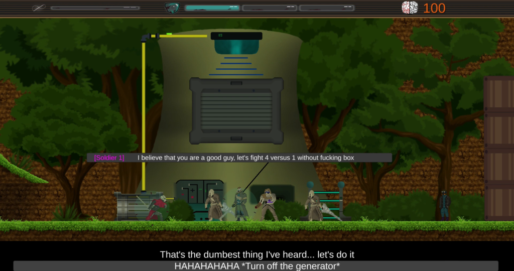 Synthetic Blood dialogue screenshot