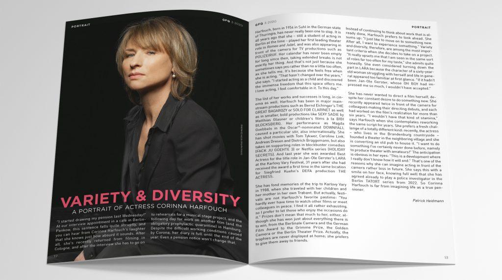 GFQ German Films Quarterly Editorial Design