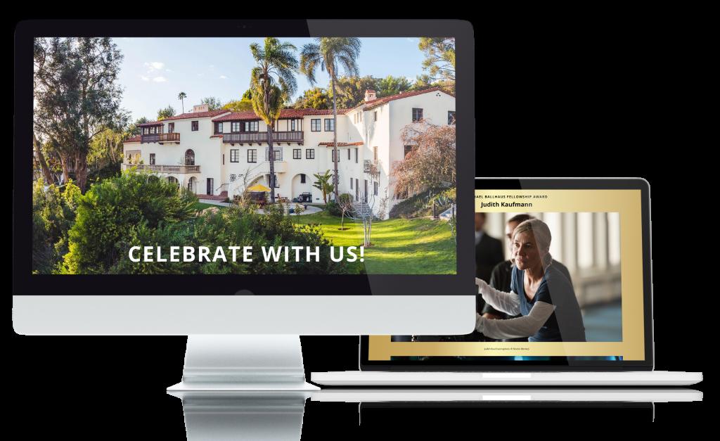 Webseite Academy Award Reception Villa Aurora