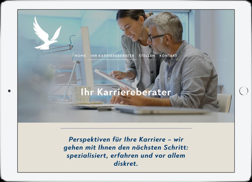 Website Arakos Design triptychon corporate communications