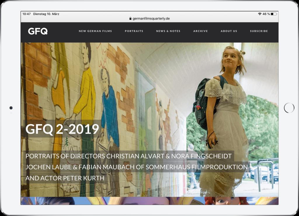 GFQ Webdesign triptychon corporate communications