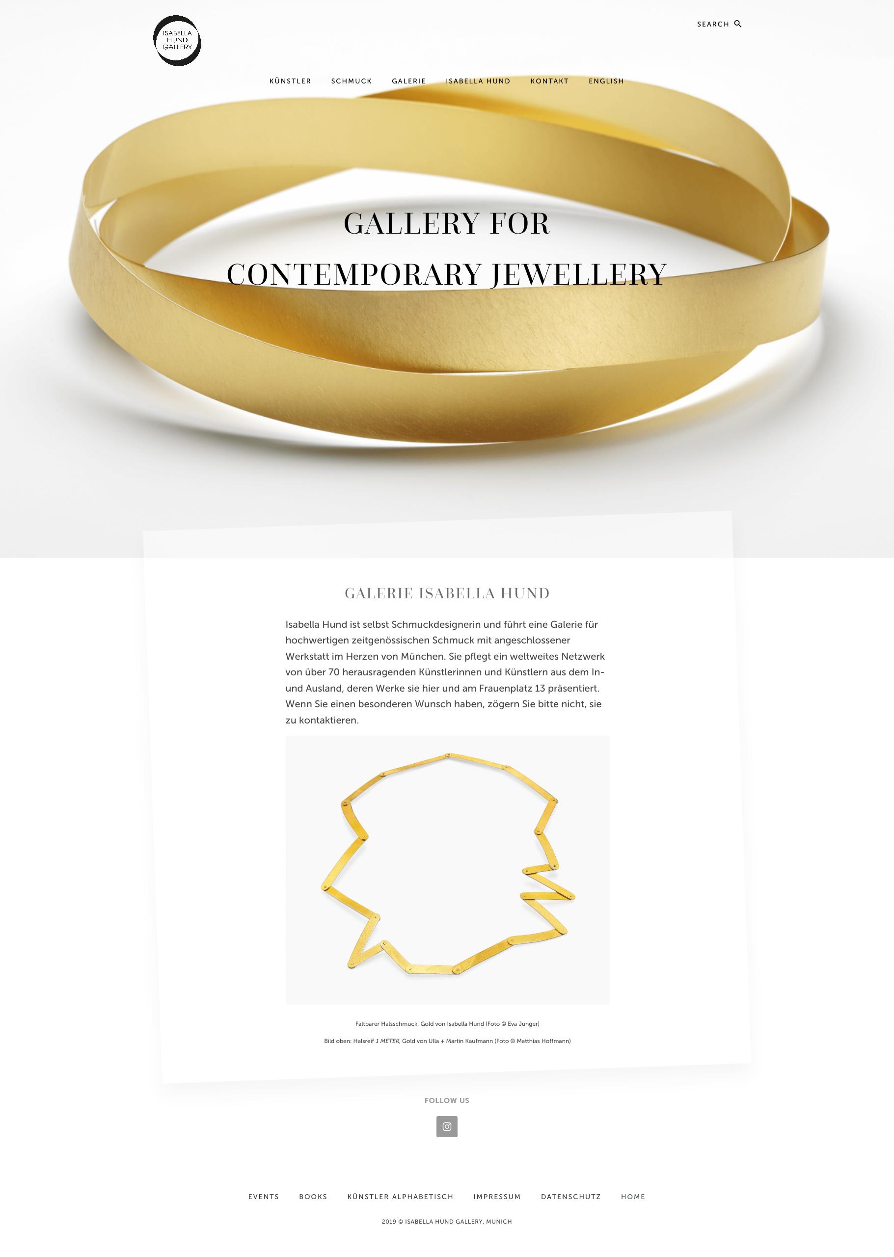 Website Isabella Hund Gallery Design Werner Schauer