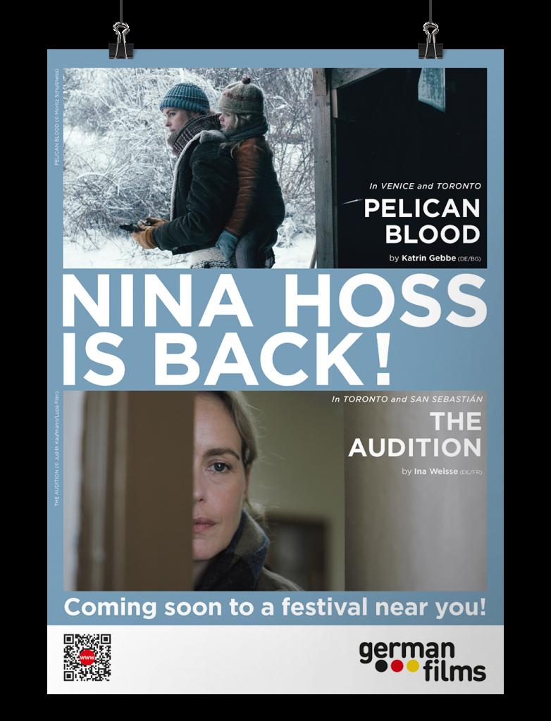 Anzeige Nina Hoss ist back. German Films