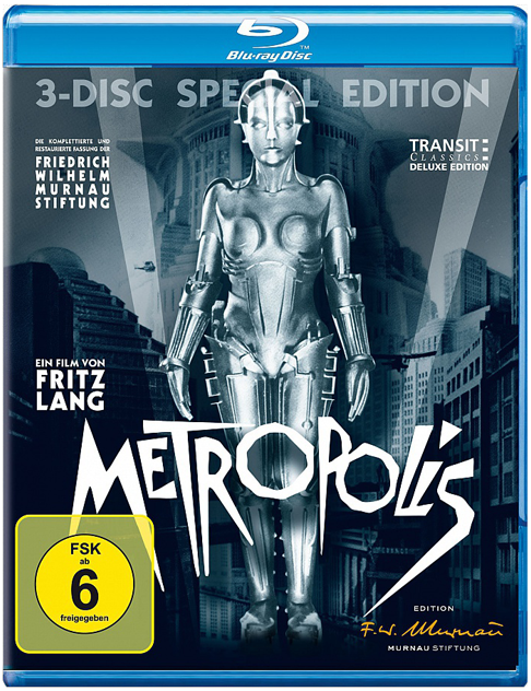 Bluray Metropolis Package Design