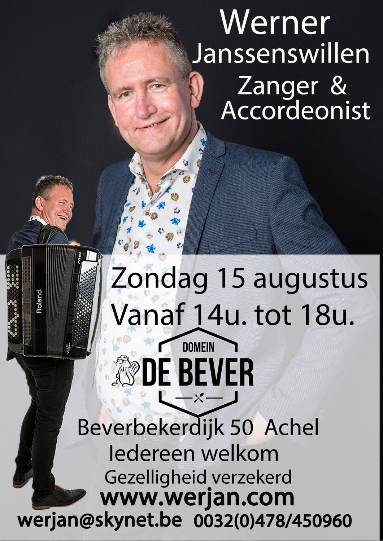 Optreden 15 augustus Domein de Bever Achel van 14u tot 18u @ Domein De Bever