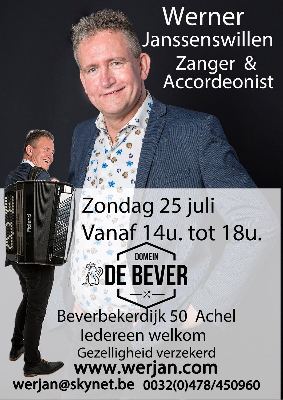 Optreden 25 juli Domein de Bever Achel van 14u tot 18u @ Domein De Bever