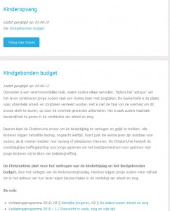 Screenshot website Christenunie 06-09-2013
