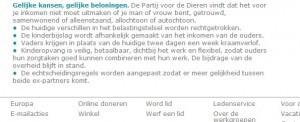 Screenshot website Partij voor de Dieren 06-09-2013