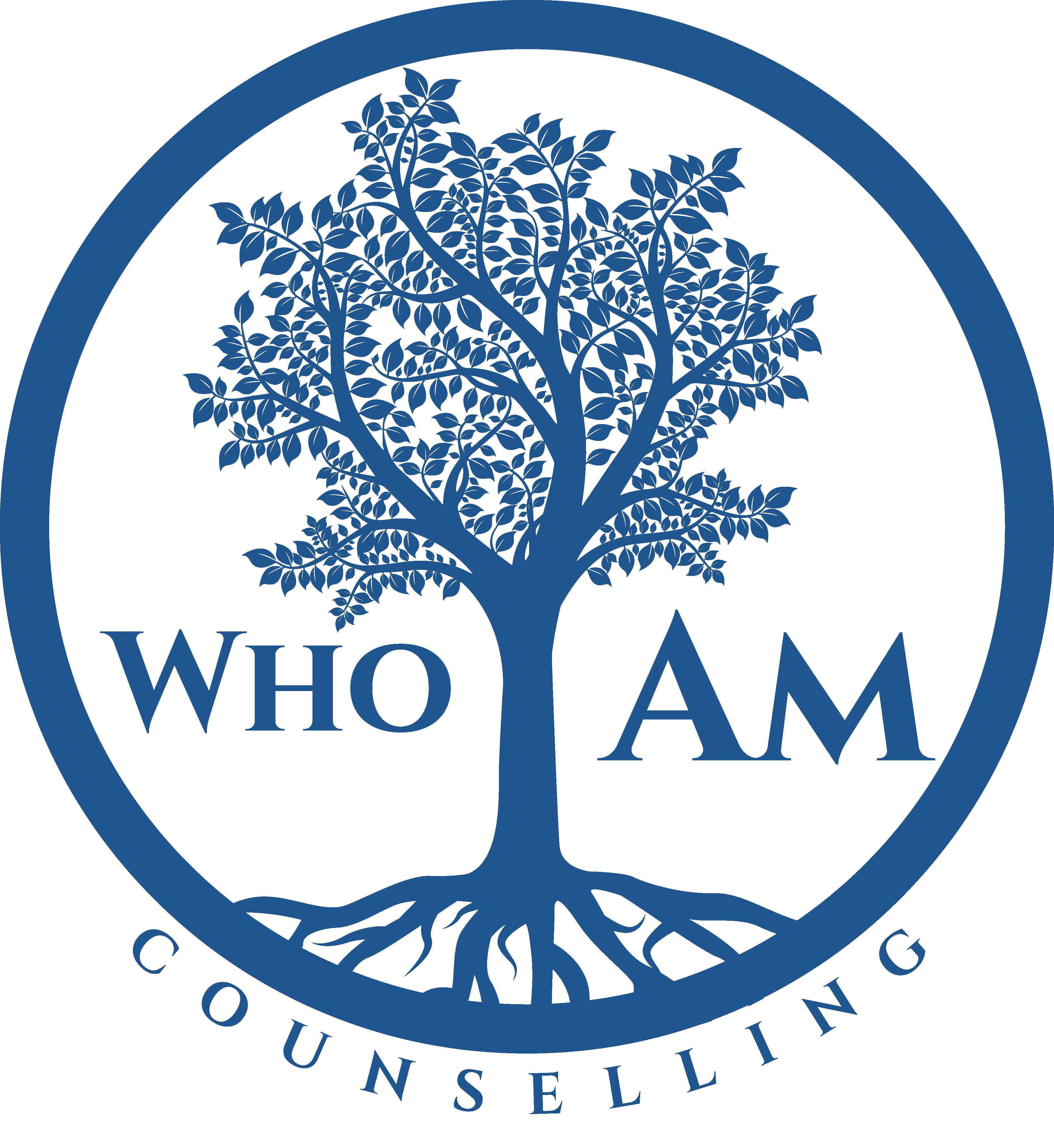 who I am blue logo