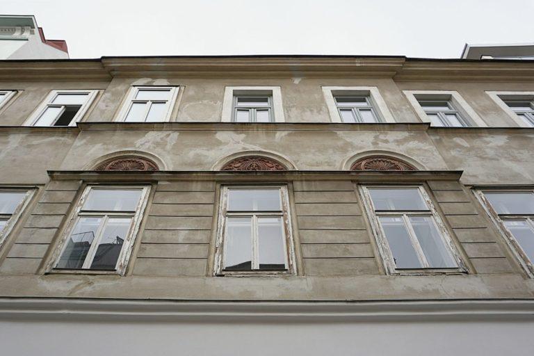 Fenster, altes Haus, Ornament