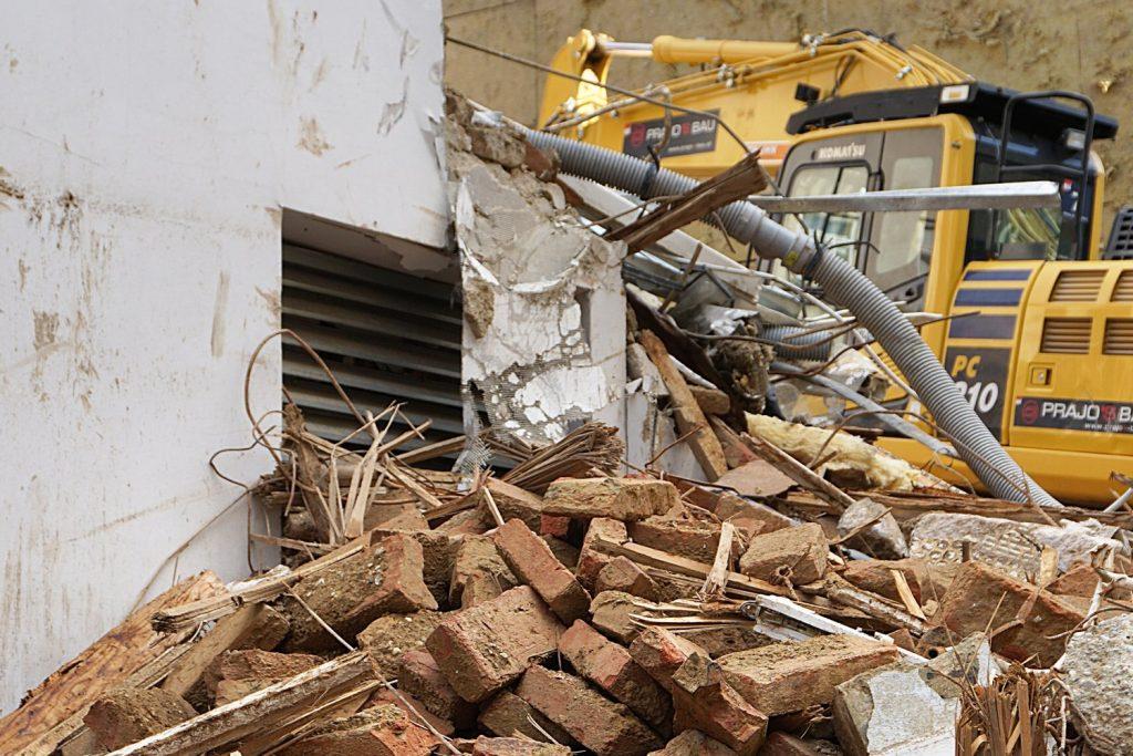 Abriss des Hauses Zieglergasse 52 in Wien-Neubau (7. Bezirk)