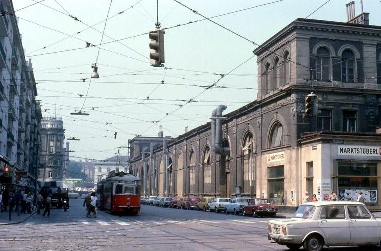Markthalle in der Invalidenstraße im Jahr 1979, Wien Mitte