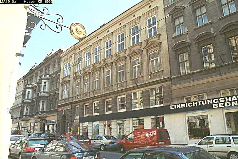 Gründerzeithaus Hernalser Hauptstraße 59, 1170 Wien, später abgebrochen und durch Neubau ersetzt