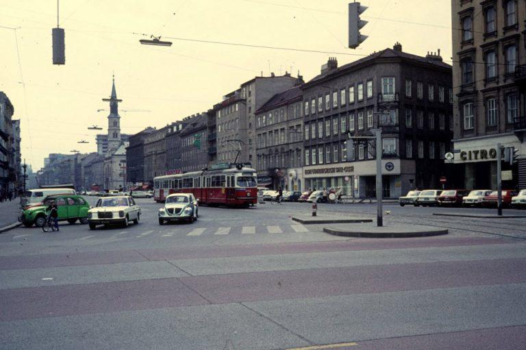 Praterstraße im Jahr 1976, Wien-Leopoldstadt