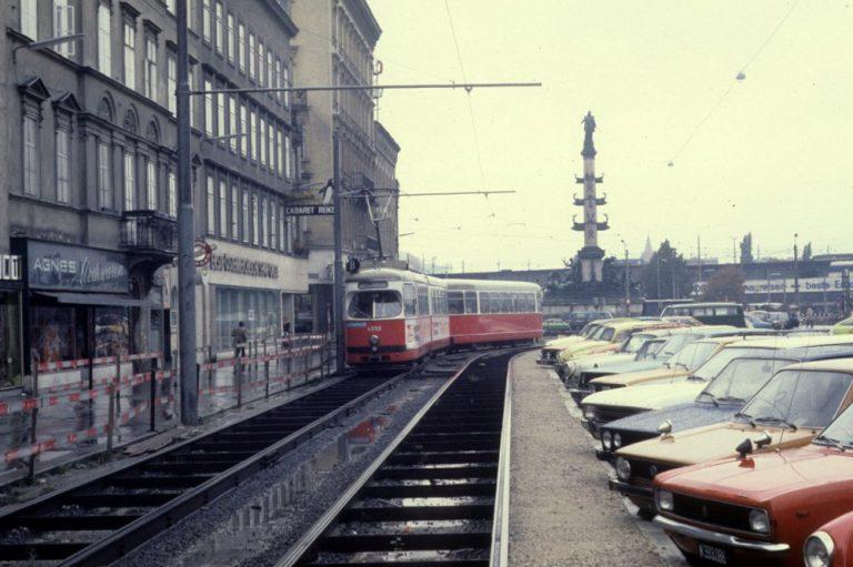Praterstraße und Praterstern im Jahr 1978, Wien-Leopoldstadt