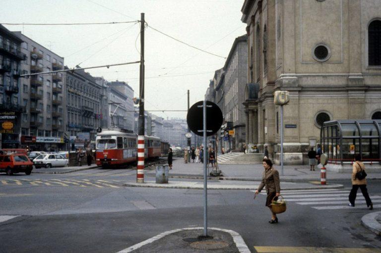 Praterstraße und Nestroyplatz im Jahr 1979, Wien-Leopoldstadt