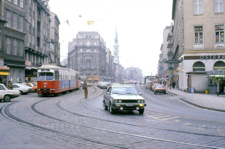 Praterstraße im Jahr 1981, Wien-Leopoldstadt
