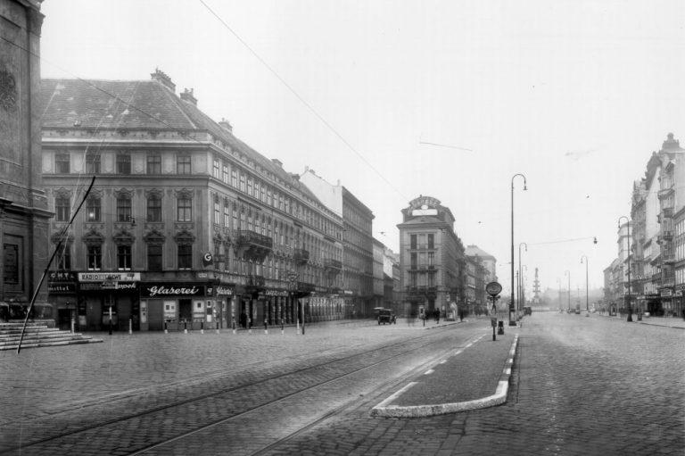 Praterstraße in Richtung Praterstern, historische Aufnahme, 1940