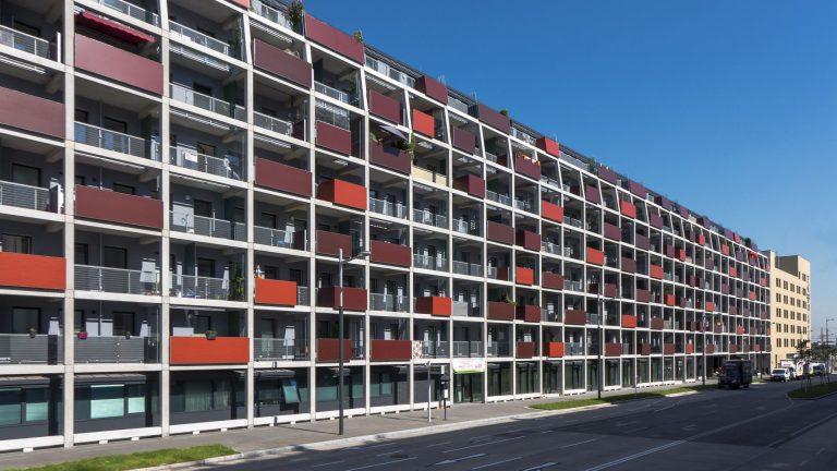 Wohnhaus an der Alfred-Adler-Straße, Sonnwendviertel, Wien-Favoriten