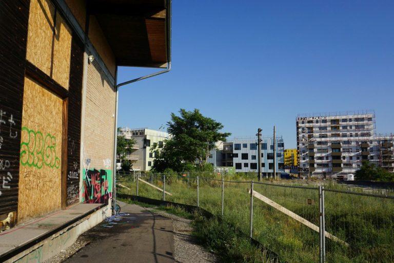 Nordbahnhalle vor dem Abriss, Bildungscampus, Nordbahnhof, Wien-Leopoldstadt