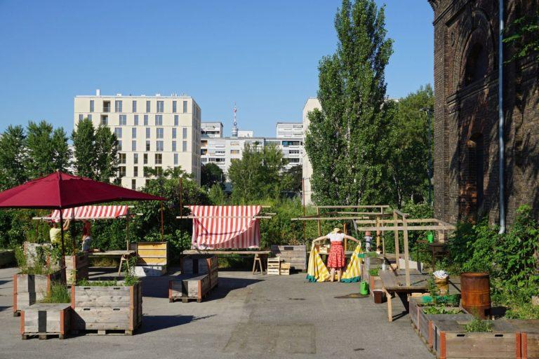 Gemeinschaftsgarten bei der Nordbahnhalle in Wien-Leopoldstadt, vor dem Abriss und Brand 2019
