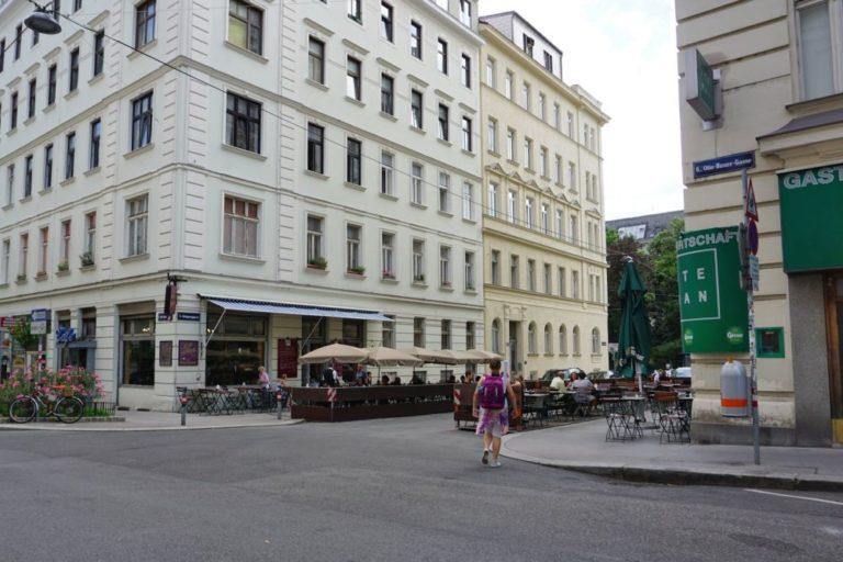Königsegggasse, Otto-Bauer-Gasse, Café Jelinek, vor der Umbau zur Fußgängerzone, Wien-Mariahilf