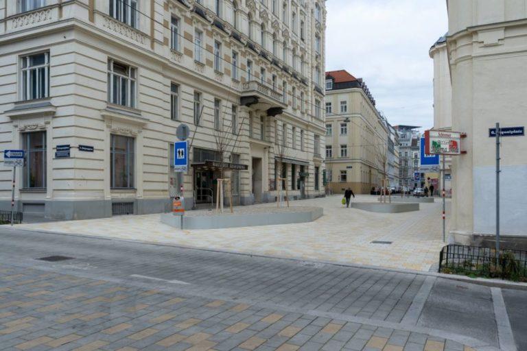 Fußgängerzone in der Königsegggasse beim Loquaiplatz, Wien-Mariahilf