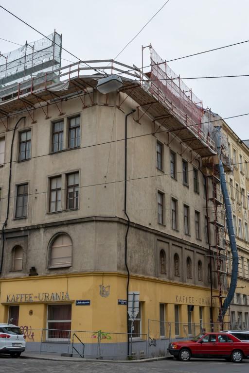Radetzkystraße 24-26, teilweise abgerissenes Frühgründerzeithaus