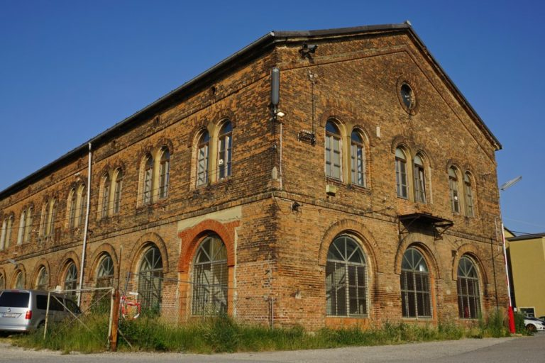 """Inventarhalle am """"Neuen Landgut"""", Laxenburger Straße, Wien-Favoriten, erbaut um 1850"""