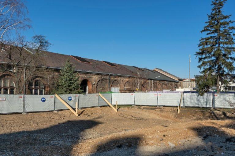 Gösserhalle, Neues Landgut, nach Abriss eines historischen Backsteingebäudes, 2020
