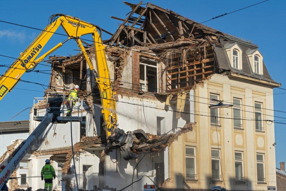 Gründerzeithaus Laxenburger Straße 4 wird abgerissen, 2020, Wien-Favoriten